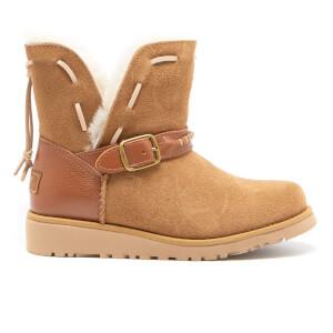 UGG Kids' Tacey Short Buckle Sheepskin Boots - Chestnut