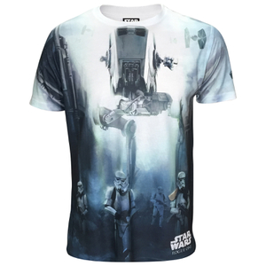 T-Shirt Homme Star Wars Rogue One Stormtroopers Battle - Blanc