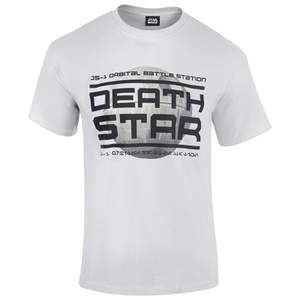 Star Wars: Rogue One Mens Death Star Logo T-Shirt - Wit