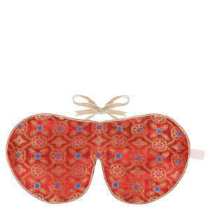 Holistic Silk Eye Mask Slipper Gift Set - Tibetan Orange (Various Sizes)