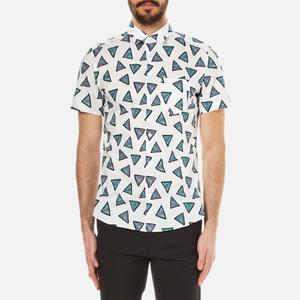 KENZO Men's Bermudas Triangle Short Sleeve Shirt - White