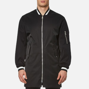KENZO Men's Tech Cotton Long Line Bomber Jacket - Black