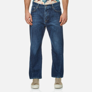 KENZO Men's Twist Seam Wrap Jeans - Navy