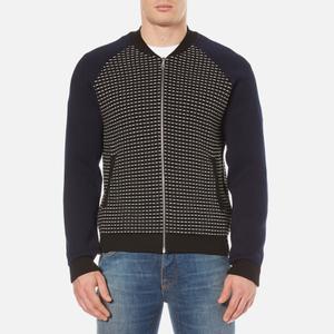 KENZO Men's Waffle Zip Thru Knitted Bomber Jacket - Black