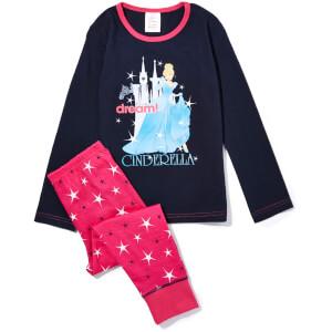Disney Girl's Cinderella Print Pyjamas - Pink