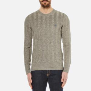 Vivienne Westwood MAN Men's Linen Crew Neck Knitted Jumper - Beige Melange