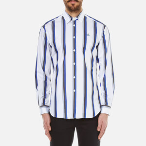 Vivienne Westwood MAN Men's Bold Stripe Cutaway Shirt - Blue Stripe