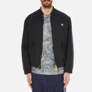 Vivienne Westwood MAN Men's Washed Cotton Bomber Jacket - Navy