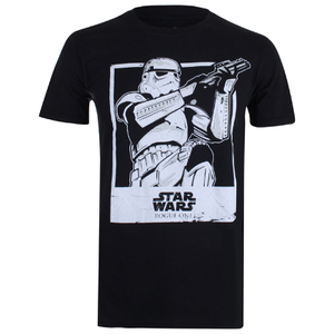 Star Wars Herren Trooper Polaroid T-Shirt - Schwarz