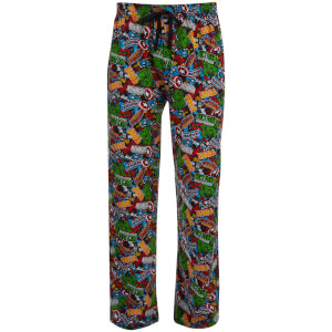 Marvel Comics Men's Avengers All Over Print Lounge Pants - Multi
