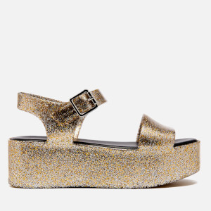 Melissa Women's Mar Flatform Sandals - Gold Glitter