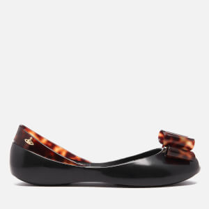 Vivienne Westwood for Melissa Women's Queen Ballet Flats - Black Tortoiseshell Bow