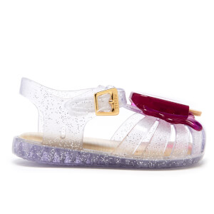 Mini Melissa Toddlers' Aranha Lollypop Sandals - Clear Glitter