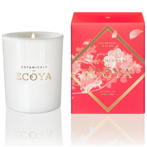 ECOYA Botanicals Evolution Jacaranda and Plum Candle - Metro Jar