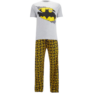 DC Comics Men's Batman Pyjama Set - Grey Marl