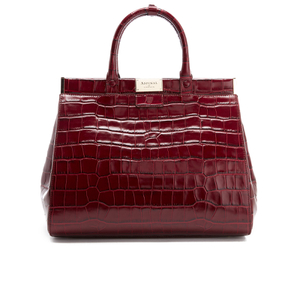 Aspinal of London Women's Large Snap Bag - Bordeaux Croc