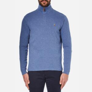 Polo Ralph Lauren Men's Quarter Zip Sweatshirt - Academy Blue Heather