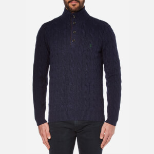 Polo Ralph Lauren Men's Mock Neck Knit Jumper - Navy Heather