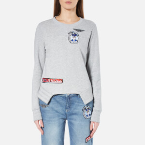 Karl Lagerfeld Women's Karl Jet Patches Sweatshirt - Grey