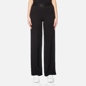 Karl Lagerfeld Women's Wide Leg Snap Pants - Black
