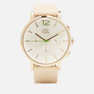 Orla Kiely Women's Frankie Leather Watch - Cream