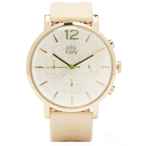 Orla Kiely Women's Frankie Leather Watch - Cream