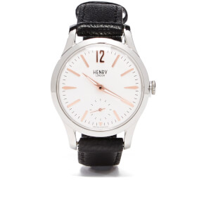 Henry London Highgate Leather Watch - Black