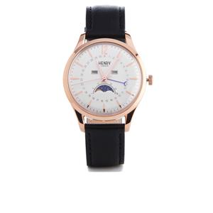 Henry London Richmond Moon Phase Watch - Black
