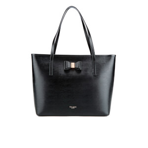 Ted Baker Women's Carilen Bow Detail Large Leather Shopper Bag - Black