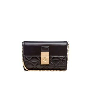 Ted Baker Women's Gloria Quilted Luggage Lock Cross Body Bag - Black