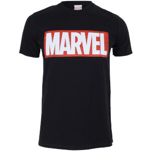 Marvel Boys' Core Logo Heren T-Shirt - Zwart