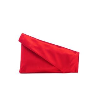 Diane von Furstenberg Women's Satin Asymmetric Foldover Clutch Bag - Rust