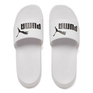 Puma Men's Popcat Slide Sandals - White/Black