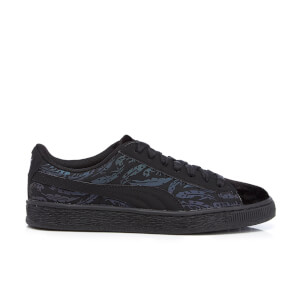 Puma Women's Basket Swan Trainers - Black/Black
