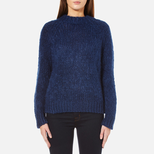 Samsoe & Samsoe Women's Atwo O-Neck Jumper - Estate Blue