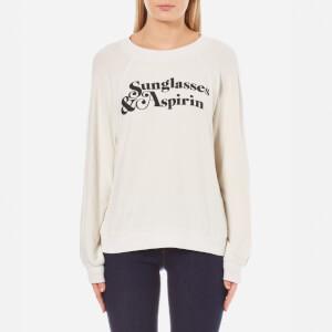Wildfox Women's Sunglasses & Aspirin Sommers Sweatshirt - Alabaster