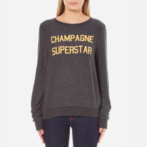 Wildfox Women's Champagne Superstar Baggy Beach Jumper - Clean Black
