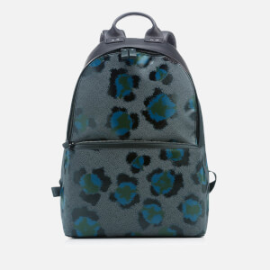 KENZO Men's Leopard Print Backpack - Black Green