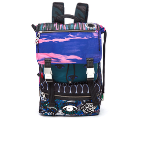 KENZO Men's Essentials Multi Panel Rucksack - Multi
