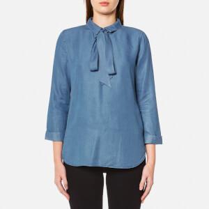 BOSS Orange Women's Celtis Blouse - Open Blue