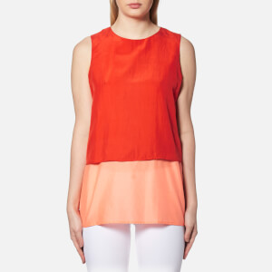 BOSS Orange Women's Civille Layered Top - Bright Red
