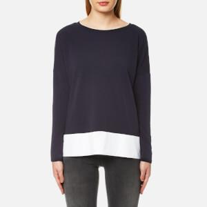 BOSS Orange Women's Tersweat Sweatshirt - Dark Blue