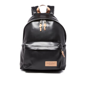 Eastpak Padded Pak'r Leather Backpack - Black