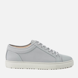 ETQ. Men's Low Top 1 Leather Trainers - Alloy Microchip