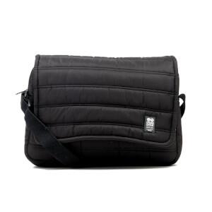Crosshatch Ridger Quilted Messenger Bag - Black