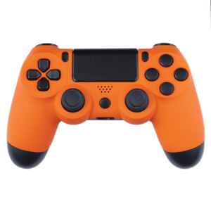 Playstation 4 Custom Controller - Orange Velvet & Black