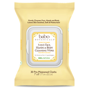 Babo 3-in-1 Sensitive Baby Face, Hand, Body Wipes - Oatmilk & Calendula
