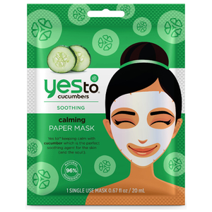 Masque-Tissu Calmant Calming Paper Mask yes to cucumbers