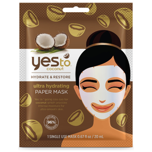Masque-Tissu Ultra Hydratant Ultra Hydrating Paper Mask yes to coconut
