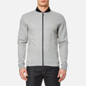 BOSS Green Men's Sariq Bomber Sweatshirt - Open Grey